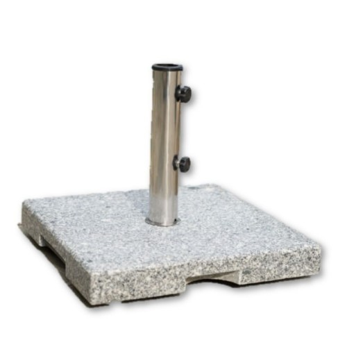 "18"" Grey Granite Square Patio Umbrella Base"