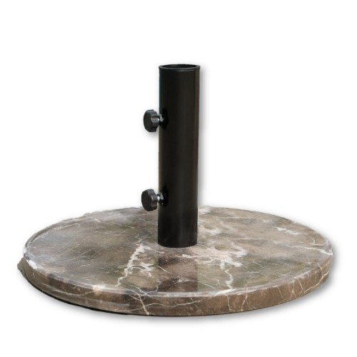 "18"" Round Brown Granite Patio Umbrella Base"