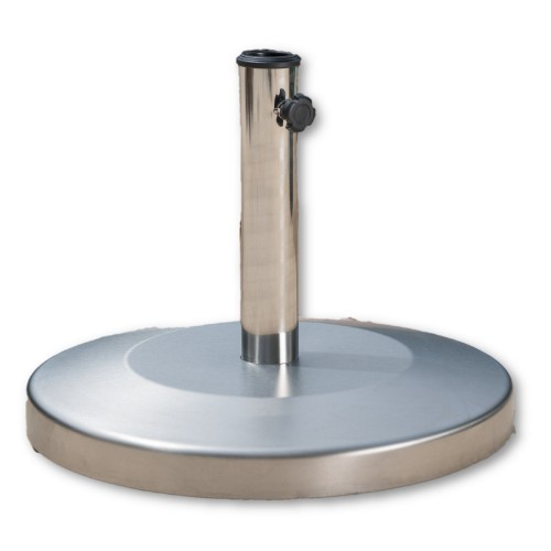 "19"" Round Patio Umbrella Stainless Steel Base - 50LBS"