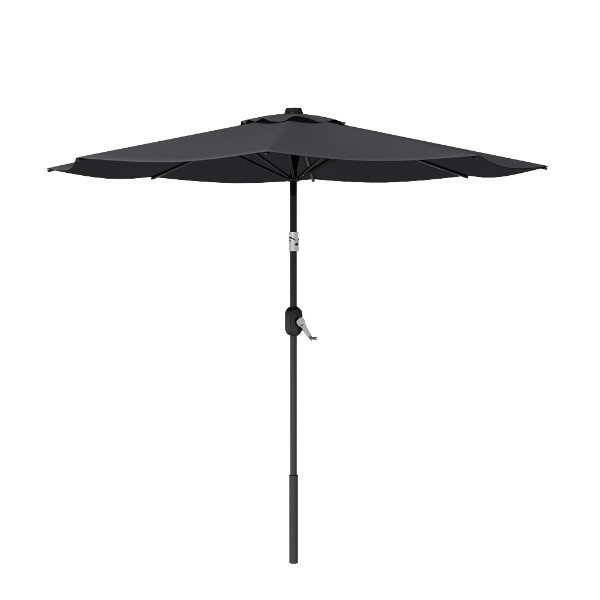 8' Black Round Patio Tilt Umbrella