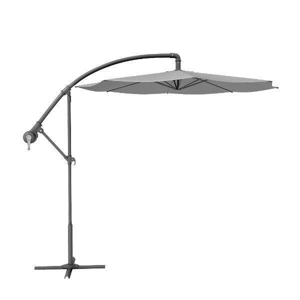 Grey Round Patio Offset Cantilever Umbrella