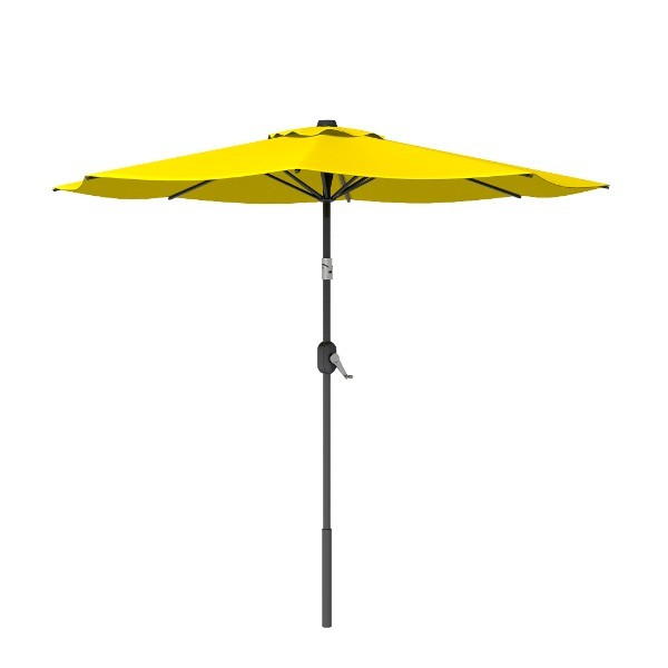 8' Yellow Round Patio Tilt Umbrella