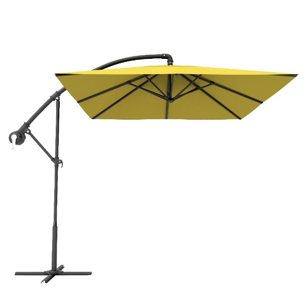 Yellow Square Patio Offset Cantilever Umbrella
