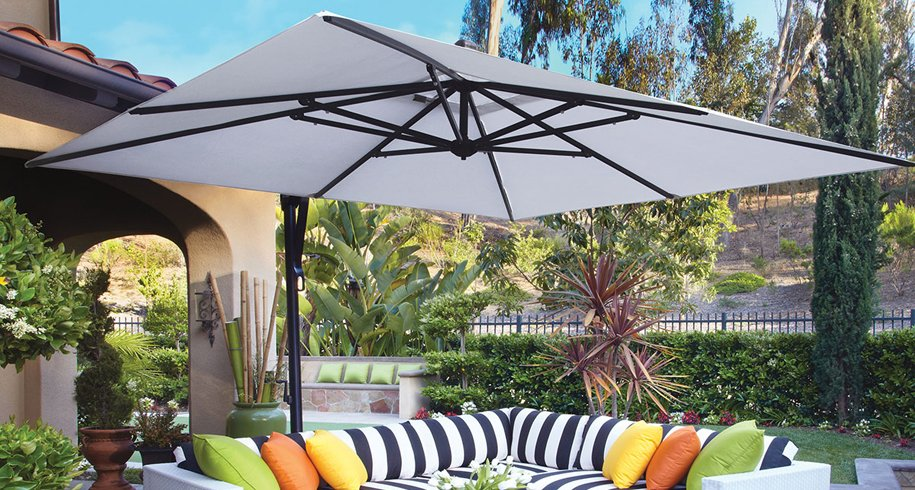 Buy Square Offset Cantilever Umbrellas
