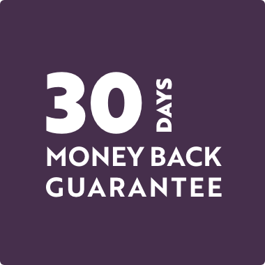 30 Days Money Back Guarantee on all Orders
