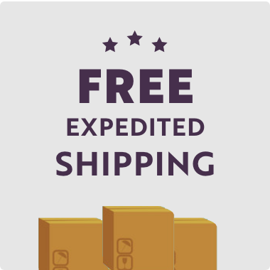 Free Expedited Shipping on all Orders